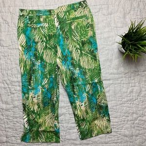 Chico's palm print women cropped pants